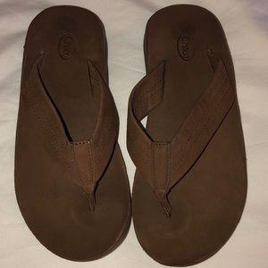 Chaco brown sandals 7 M NWOB men's flip flops